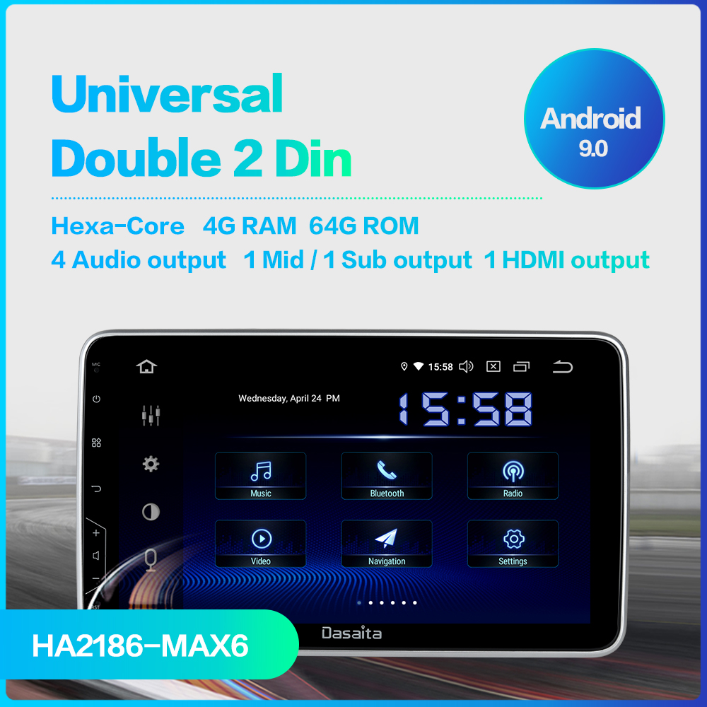 """Image 2 - Dasaita 10.2"""" IPS Screen Car Radio 2 Din Android 9.0 DSP Universal Car Auto Stereo Multimedia Bluetooth GPS Navigation HDMI MAX6-in Car Multimedia Player from Automobiles & Motorcycles"""