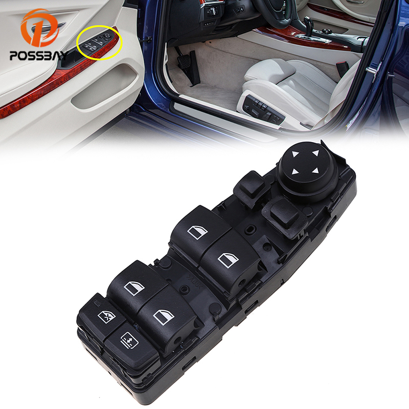 POSSBAY Car Power Window Switch for BMW 5'GT-Series F07 2009-2017 Master Window Lifter Switch Control Driver Side Parts(China)