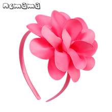 ncmama Hair Accessories Bands For Girls Plastic Big Flower Bow Headbands 4 Princess Elastic Hairband