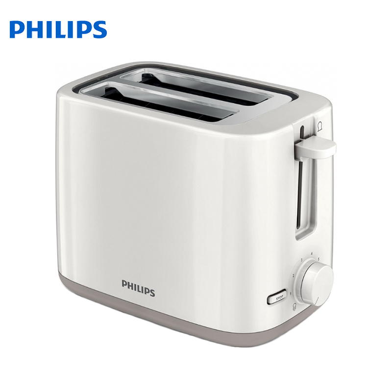 Toaster Philips HD2595 bread Household Baking 2 Slices Slots for Breakfast toast machine automatic zipper jiqi household electric baking pan sided heating cake machine scones machine grilled machine