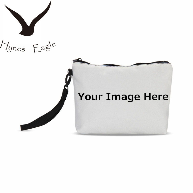 Hynes Eagle Customized Your Image Name Logo Cosmetic Cases Portable Toiletry Bag 3D Printing Make Up Case Travel Necessaries