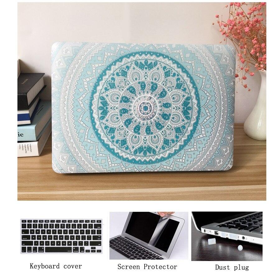 POSEIT Mandala padrão hard Case Para Apple Macbook Air Caso 13 11 Pro Retina 15 12 Saco Do Portátil Para Nova pro 13 Toque barra de 15 Caso