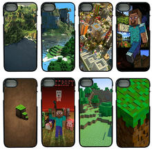 Cell Phone Cases Creeper Minecraft for iphone 8 7 6 6S Plus X 5S 5C 5 SE 4 4S iPod Touch 4 5 6 Shell Black Hard PC Plastic Cover(China)