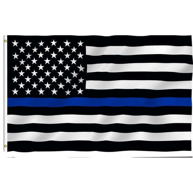 150*90 см тонкие синие полосы флаги США втулки, полицейские, полицейские флаги, черные, белые, синие флаги Прямая поставка