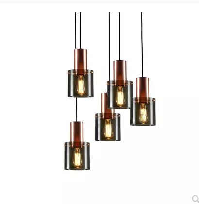 Nordic postmodern design living room dining room style small chandelier simple creative glass staircase chandelierNordic postmodern design living room dining room style small chandelier simple creative glass staircase chandelier