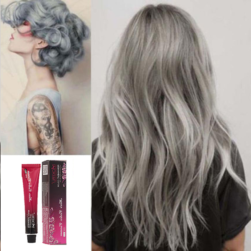 US $3.99 53% OFF|Mokeru 100ml Hot Fashion Ash Hair Dye Professional Hair  Color Permanent Paint Sliver Gray Colors Dye Hair Color Cream for Women-in  ...