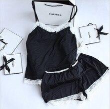 Прекрасные домашняя милые леди одежды пижамы женские кружева набор одежда женщин