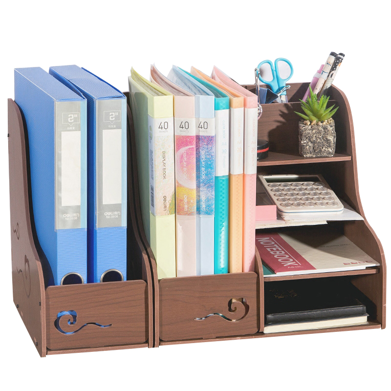 Stationery Holders School Supplies Desk Organizer A4 File Paper Holder Storage Box List Systematically Documents Tray Joy Corner cute cat pen holders multifunctional storage wooden cosmetic storage box memo box penholder gift office organizer school supplie