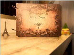 10 Pouce DIY Album Scrapbook Notre Histoire Série Bricolage À La Main Photo Albums pour Amant De Mariage De Bébé Autocollants Scrapbooking 10 Pages