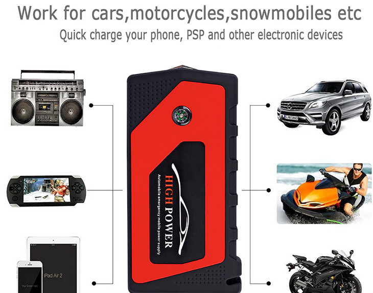 Car Jump Starter 12V Starting Device Portable Power Bank Car Charger for Car Battery Booster Diesel Auto LED Lighter Car Starter mini portable 68000mah car battery charger starting device car jump starter booster power bank for a 12v auto starting device