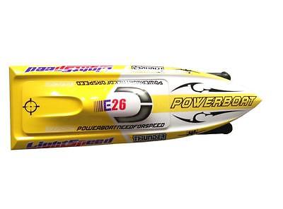 E26 PNP Thunder Fiber Glass Electric Racing Speed Boat W/2550KV Brushless Motor/90A ESC Deep Vee Boat Yellow 30a esc welding plug brushless electric speed control 4v 16v voltage