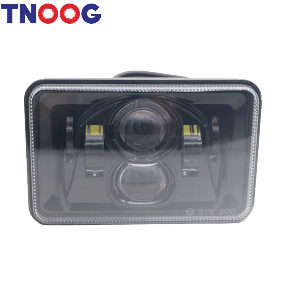 TNOOG 1PCS 4x6 LED Headlight for Peterbilt 357 / 378 / 379 High Low Beam Rectangular Headlamp fits H4651/H4652/H4656/H4666/H6545
