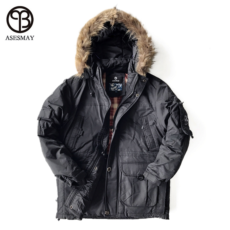 Asesmya 2017 di Nuovo Modo di Inverno Outwear Down Jacket Uomo Casual Wellensteyn Parka Uomo Inverno Giacche Più Il Formato di Spessore Cappotti Caldi