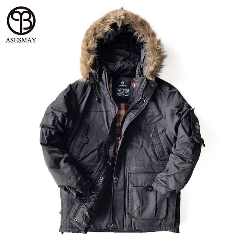 Asesmya 2019 New Fashion Winter Outwear Down Jacket Men Casual Wellensteyn Parka Male Winter Jackets Plus Size Thick Warm Coats