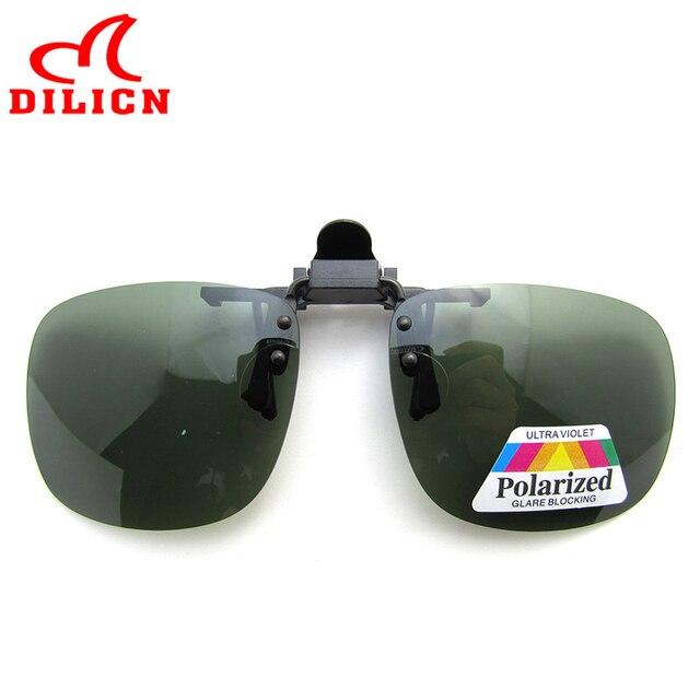 DILICN Polarized Clip On Sunglasses Men Polaroid Lens Rimless Clip Sun  Glasses Women Square Clip On