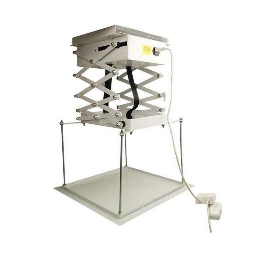 1м 1М моторизованный проектор Лифт Ножничные пульт дистанционного управления Электрический потолочный Кронштейн для кино церковного зала школы