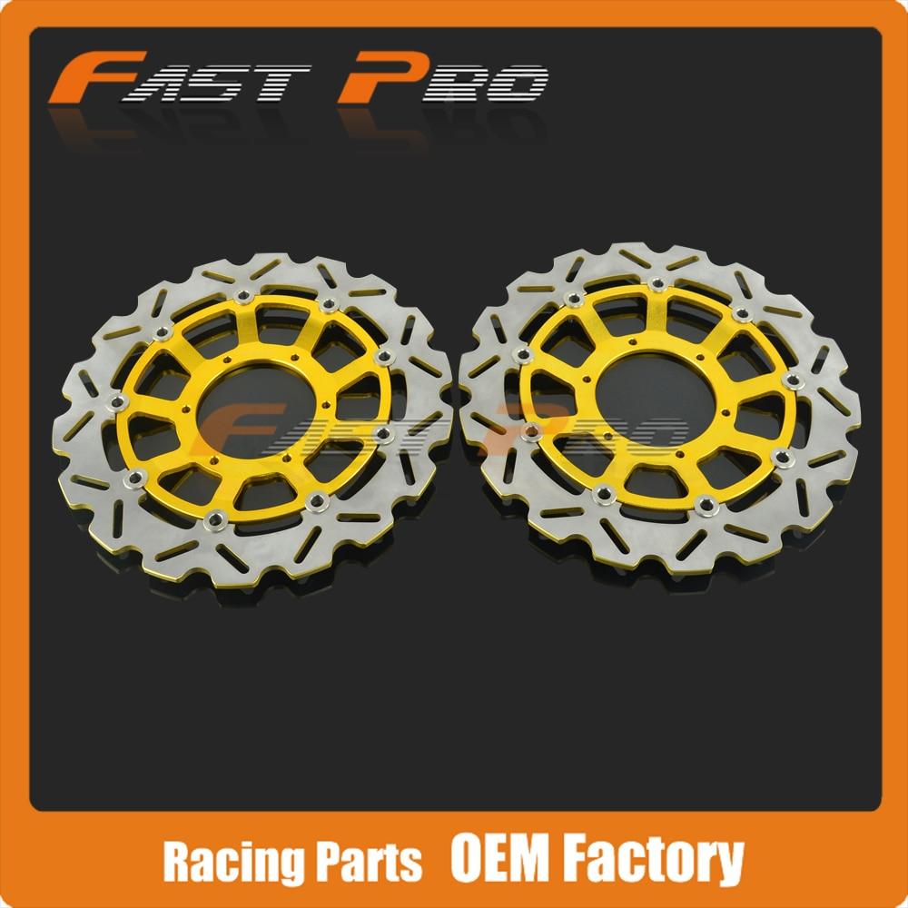 1 Paire Avant Disque De Frein Rotor Pour Honda CBR600RR 03-14 CBR1000RR 04-05 CB1000R 08-14 CB1300 05-11 CB1300SF 03-09 CB1284 03-08