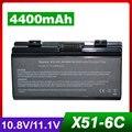 4400 mah batería del ordenador portátil para asus x58, X58C, X58L, X58Le