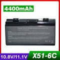 4400 mah bateria do portátil para asus x58, X58C, X58L, X58Le