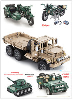 Engineering Technic Building Blocks Military Educational Toys Fighter Model Bricks Children Track Truck Hummer Army Car