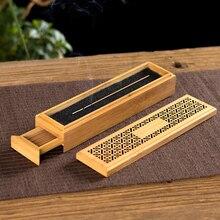PINNY 50 Pcs Natural Bamboo Incense Burner Double Layer Stick Base Room Decoration Meditation Zen Box