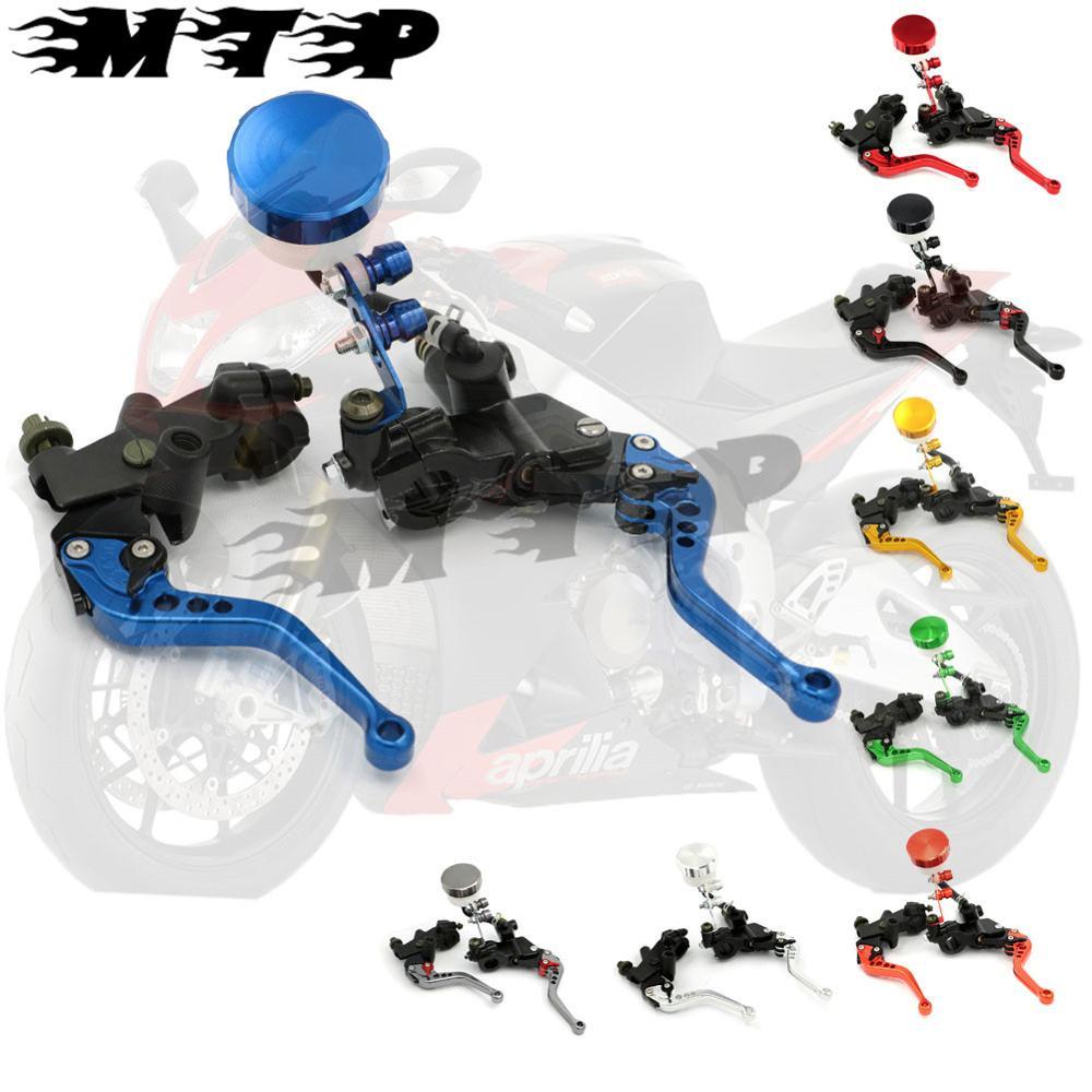 ФОТО Motorcycle Clutch Brake Master Cylinder Kit Reservoir Levers Set 7/8