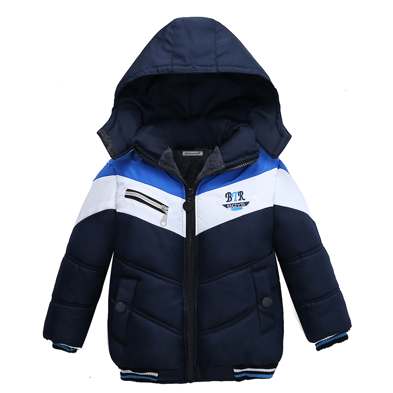 Boys Jackets Coats Winter Outwear Kids Clothes Children Hooded Warm Cotton