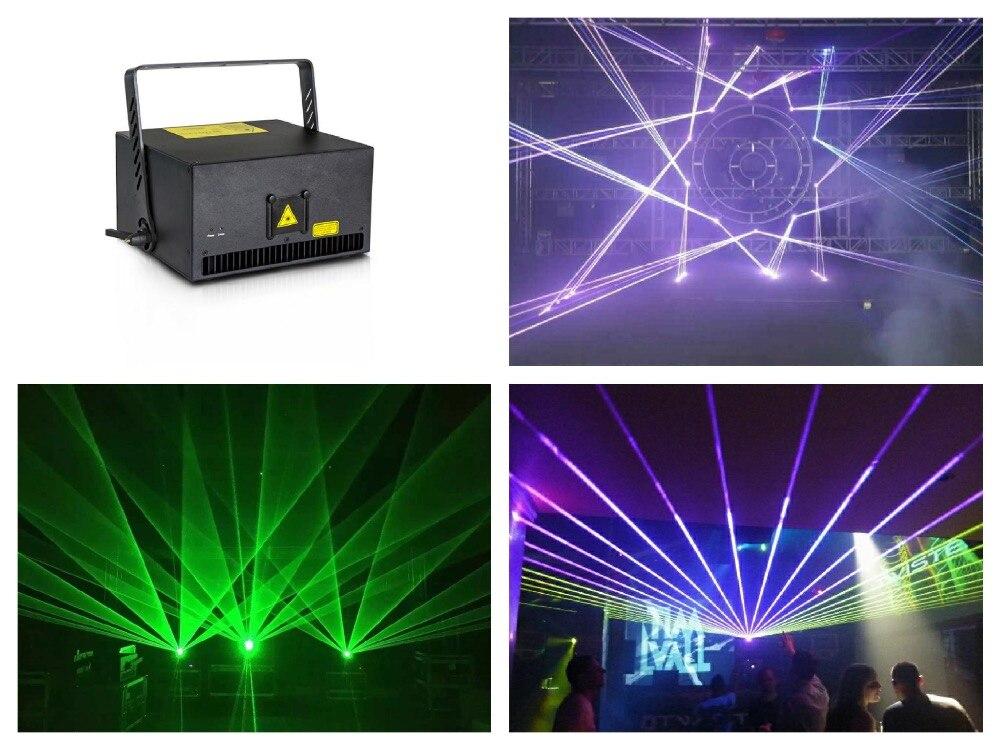 Flightcase + Grande puissance Laser 6 W RGB Animation show Laser Lumière de La Scène disco Analogique 30 k 40 Kpps scanner Auto/DMX512/Sound/ILDA/SD