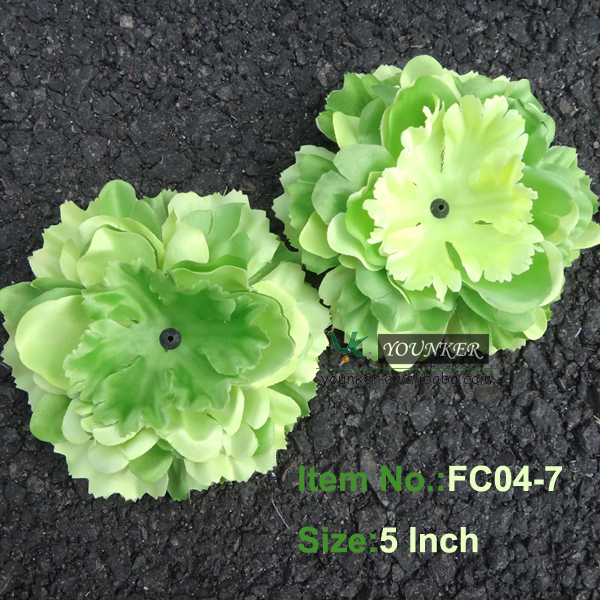 Free shipping,5inch 20pcs/lots,TWO Tone Petal Silk peony flower-Layered  Gorgeous For Baby Flower Clip (FC04-7)
