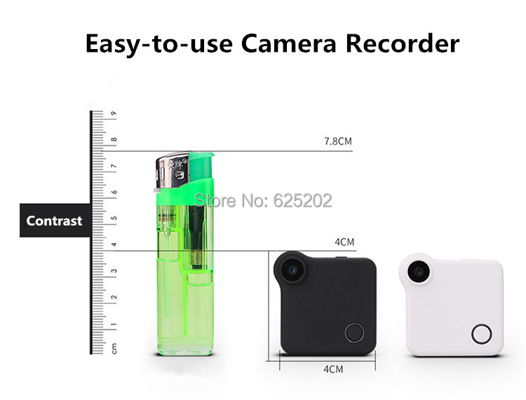 Super Mini in-Hand Wifi IP Camera Recoder Build-in Lithium Battery Support TF Card Storage