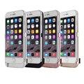 Настоящее 5000 мАч Аккумуляторная Батарея Зарядное Устройство Чехол для iPhone 6 6 S Портативный Резервного Копирования Power Bank Обложка Чехол