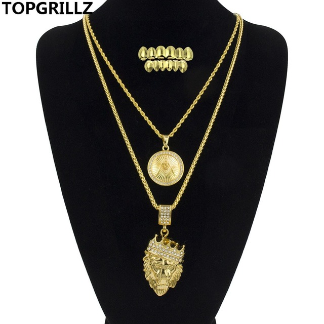 Topgrillz dance lion pendant necklace n hip hop tone circular topgrillz dance lion pendant necklace n hip hop tone circular masonic pendants necklaces with gold aloadofball Gallery