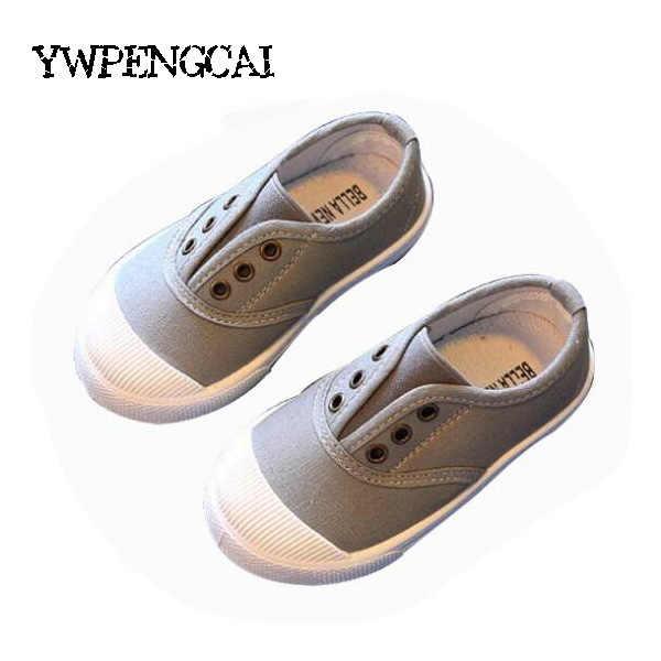 Ucuz! Çocuk Ayakkabı 2018 Ilkbahar Sonbahar Çocuk rahat ayakkabılar Erkek Kız kanvas ayakkabılar Yumuşak Rahat Slip-on Sneakers Boyutu 21-30