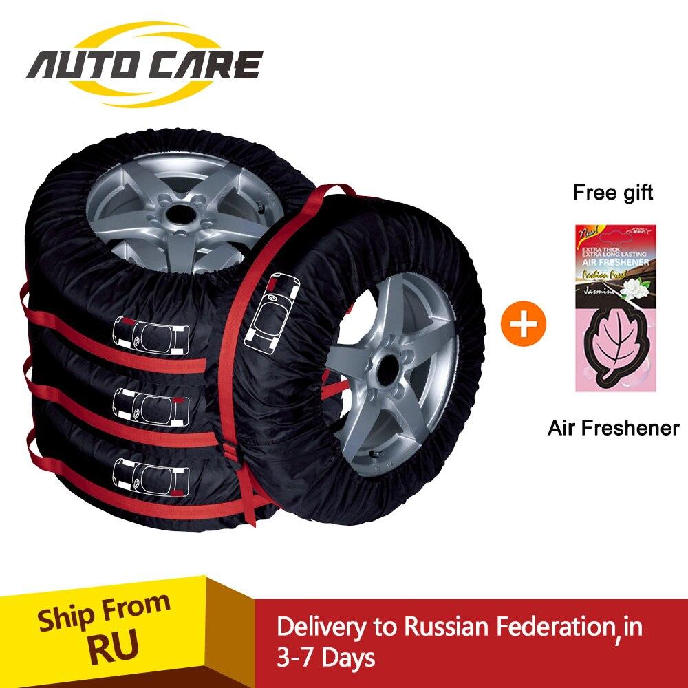 4 pièces housse de protection pour pneu de secours Polyester hiver et été sac de rangement pour pneus de voiture accessoires pour pneus de voiture protecteur de roue de véhicule