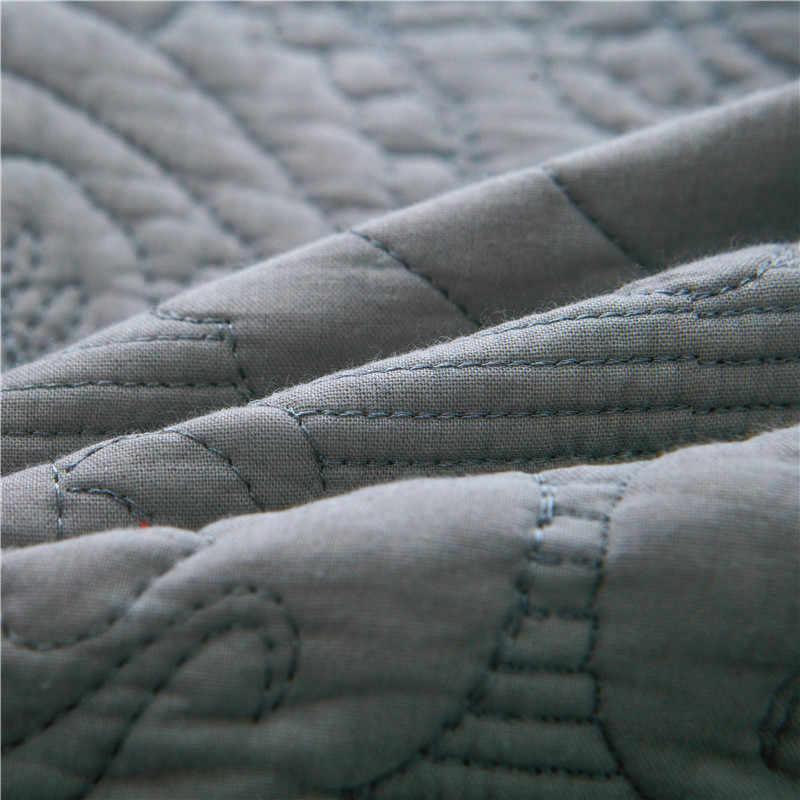 Luxe gris blanc Beige rose européen 100% coton couvre-lit drap de lit linge de lit couverture de lit été couette couverture taies d'oreiller 3 pièces