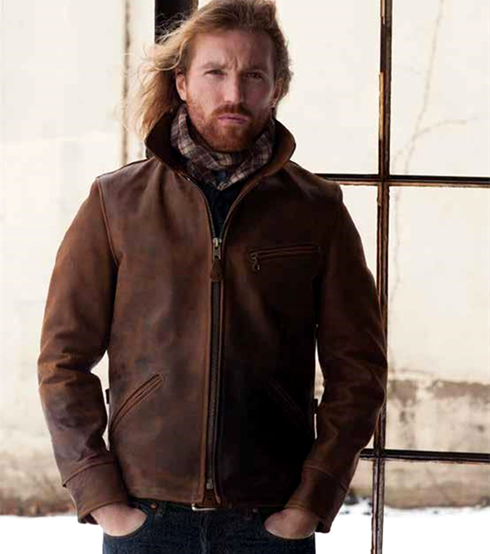 Leather jacket europe - Top Quality Europe American Vintage Men S Genuine Cattle Cowhide Leather Motocycle Jackets And Coats For Males