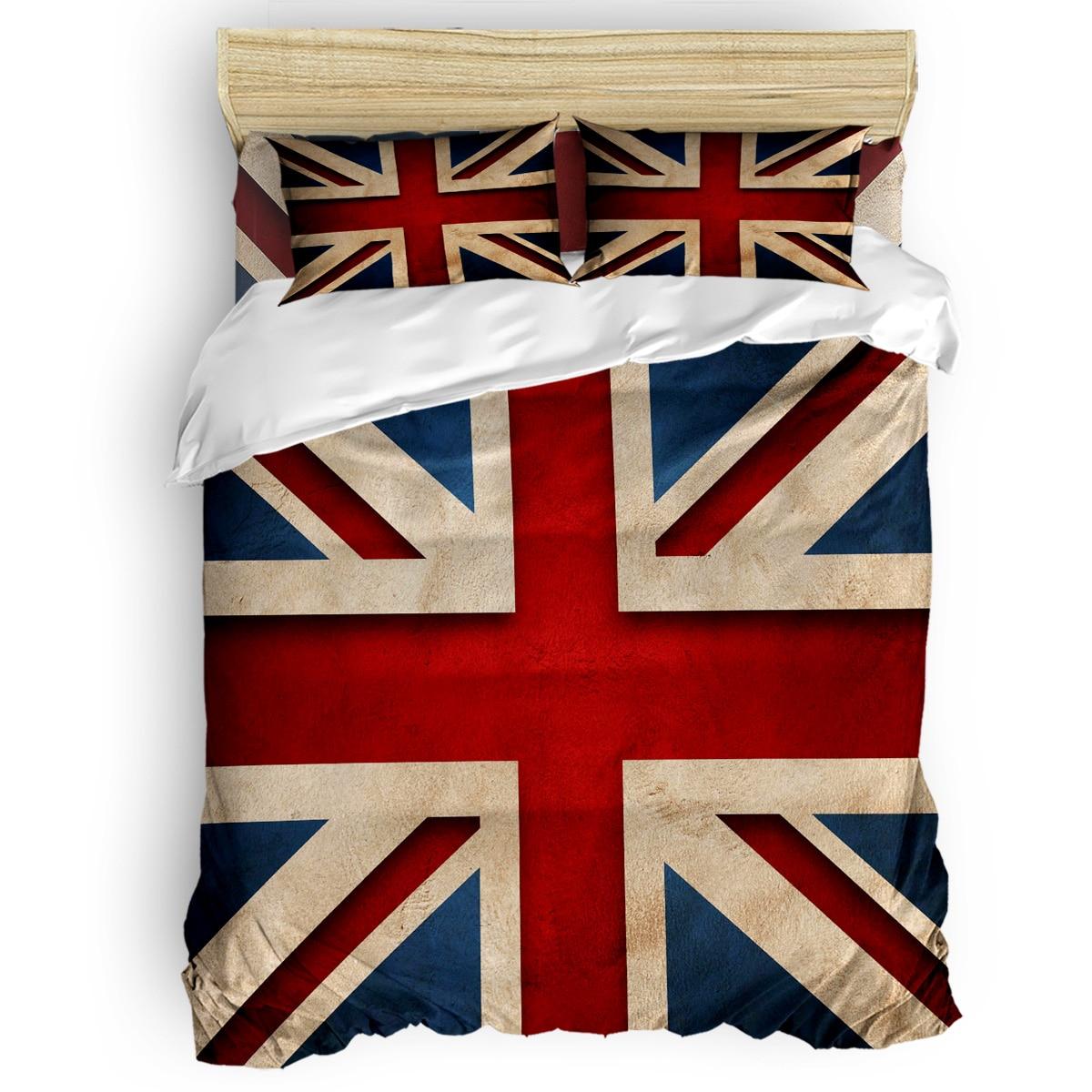 Drapeau britannique saint valentin jour du poisson d'avril jour d'élection enfant en bas âge chambre lit de jour linge de lit jumeaux maison garçons enfants Relie
