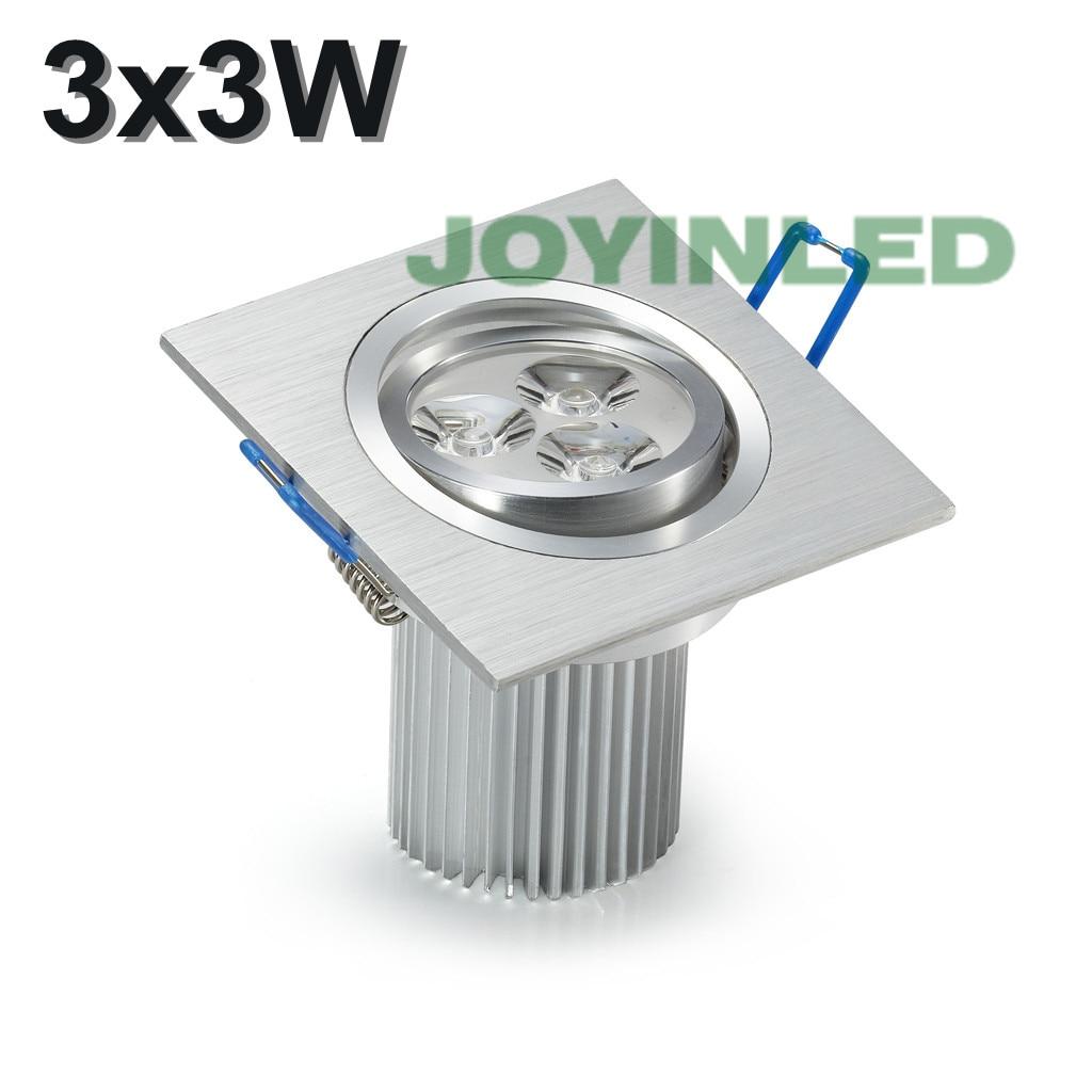 3W 6W 9W négyszögletes led mennyezeti lámpák AC85 ~ 265V nem cob - Beltéri világítás