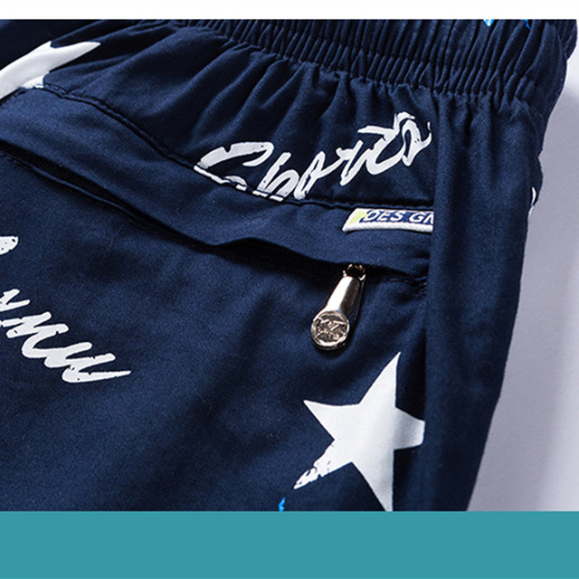 Summer beach pants, men's loose trousers, thin pants,  shorts, men's cotton five points trousers.Beach men's  trunks