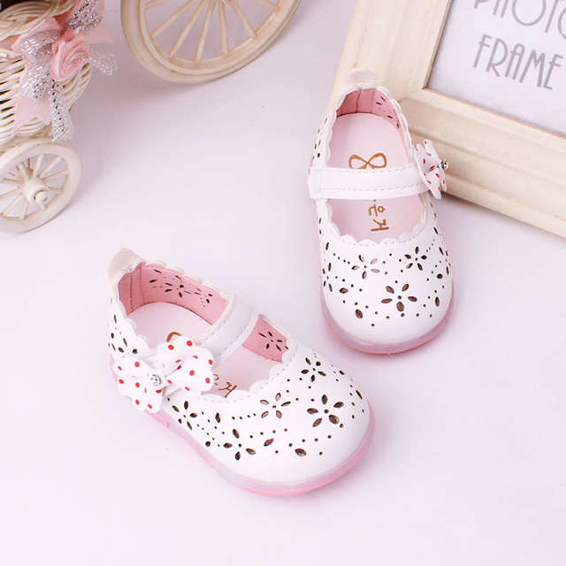 d7a1e332c4 0-3Y Baby Girls leather shoes Princess butterfly-knot soft Toddlers Kids  casual Shoe Summer Cute Girl Shoes Kids light Sandals