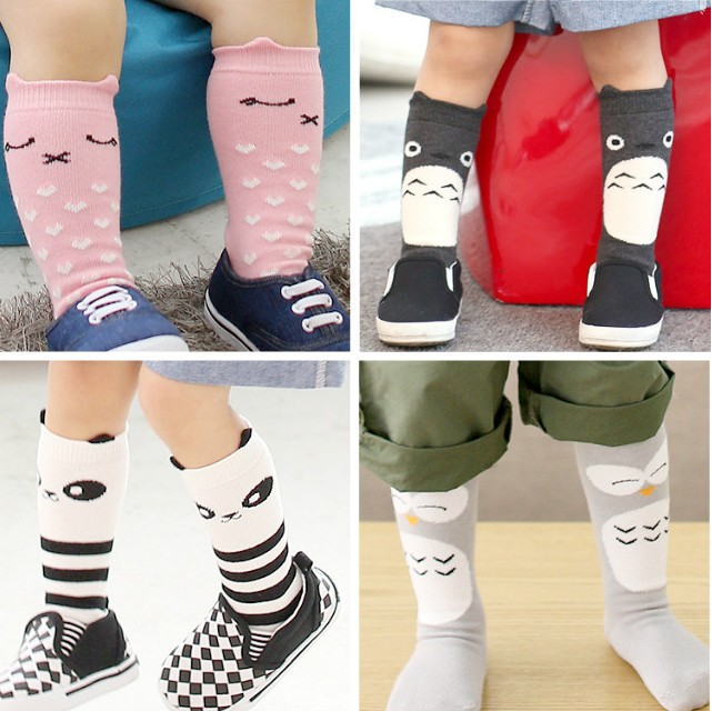2015 meias bebe dětské ponožky děti dětské dívky koleno vysoké ponožky dětské dívky koleno ponožky Totoro panda dětské dětské ponožky pro chlapce