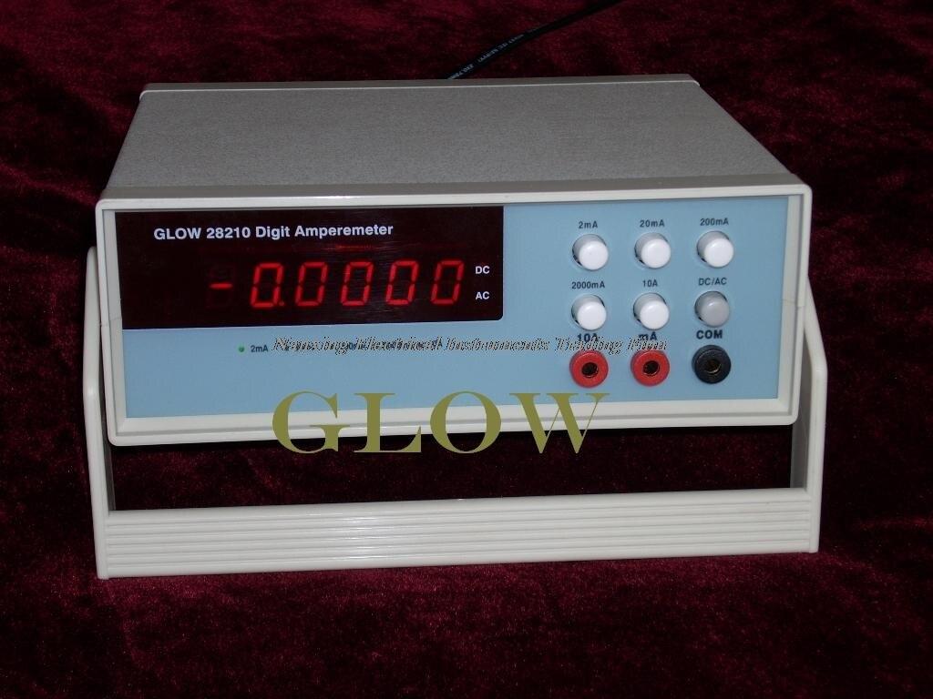 Snelle aankomst Desktop GLOW28210 4 1/2 digitale AC/DC stroom tester, mA huidige tester 2mA/20mA/200mA/2000mA/10A - 3