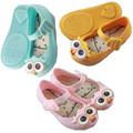 Baby Jelly Girls Shoes Girls Sandals Mini Melissa Kids with Owl Pattern 2016 New Summer Cartoon Princess Children Shoes