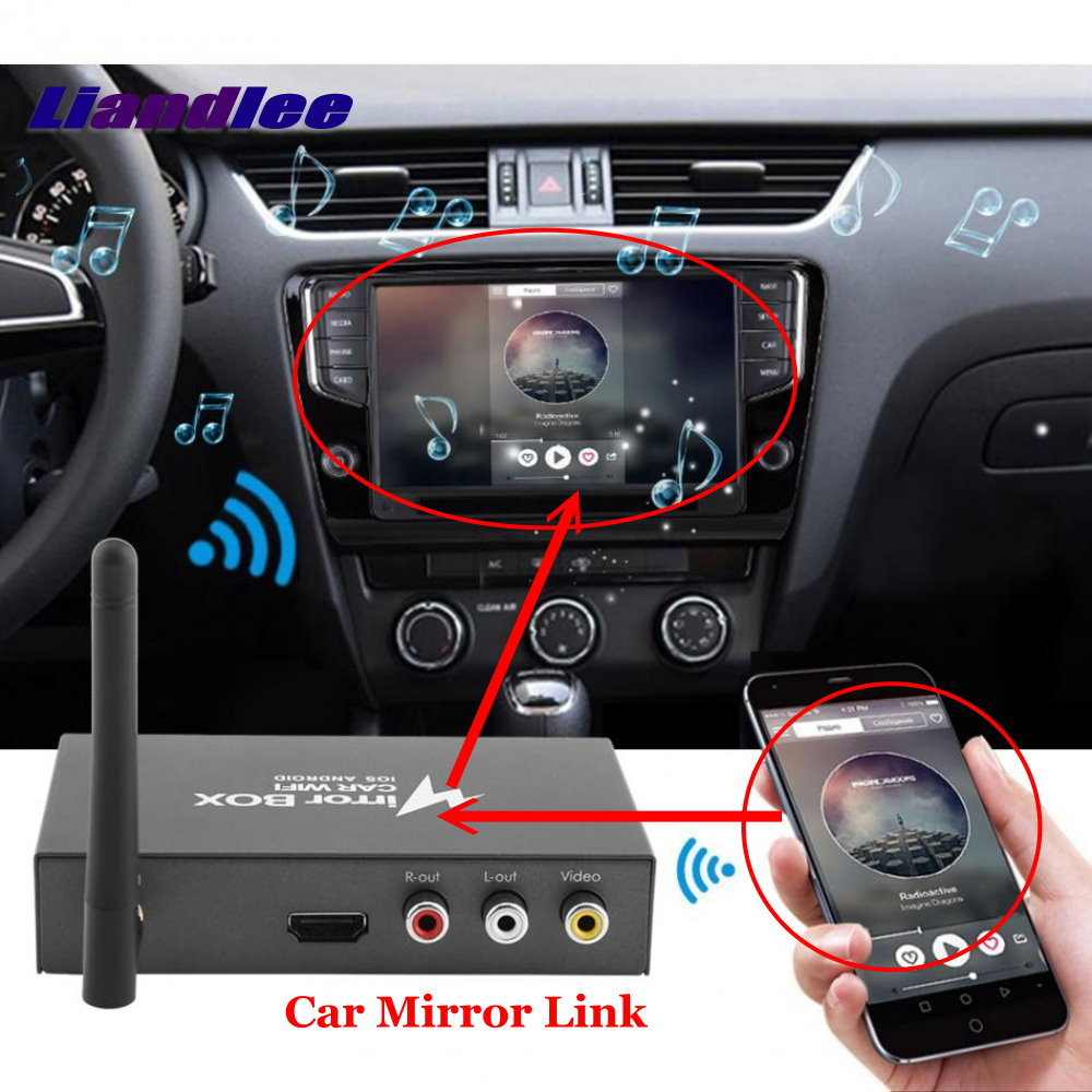 Car Mirror Link WiFi Airplay Display Dongle Box Smart Screen Mirroring Converter Universal For Android + iOS Mobile Phone