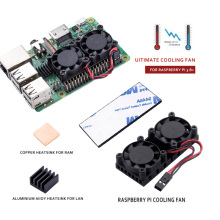 YOUNUON Raspberry Pi 3 3bPlus Dual Fan Double Cooling Fans For Raspberry Pi 2 Model B B+/Raspberry Pi 3 Model B B+/NESPi Retrofl