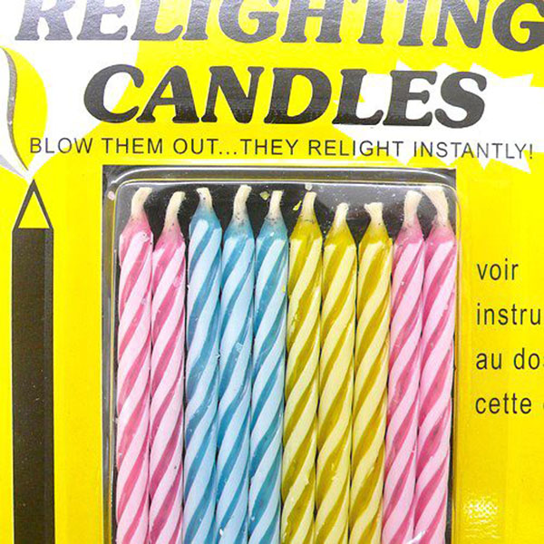 1Bag(10pcs) Birthday Cake Party Candle Magic Trick Prank Gag Joke Toys