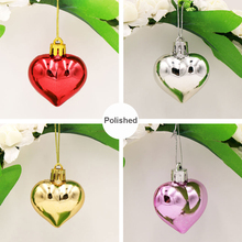 Natal 6PCS/Pack Heart Christmas Pendant Balls Christmas Tree Decoration XMAS Party Ornaments 2018 Christmas Decorations For Home