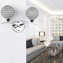 Modern Luxury Crystal Wall Light Chrome Finish Wall Sconce Lighting Fixture Bedside Corridor Home Lighting Decoration стоимость