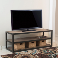 Lundin 3 Shelf Industrial Entertainment TV Console Stand with Shelf