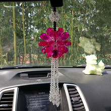 New 35*6.5CM Crystal Car Pendant High-end Ladies Accessories Charm  Rearview Mirror Hanging